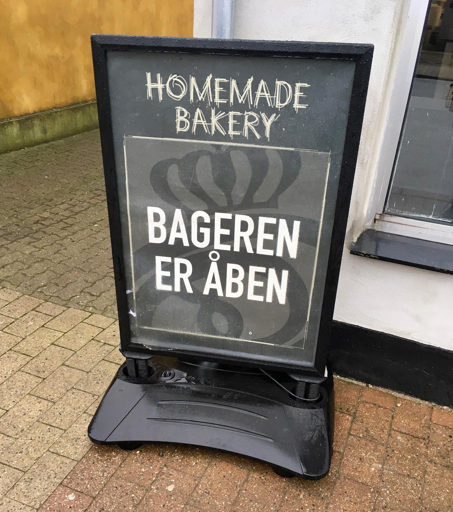 bageren er åben