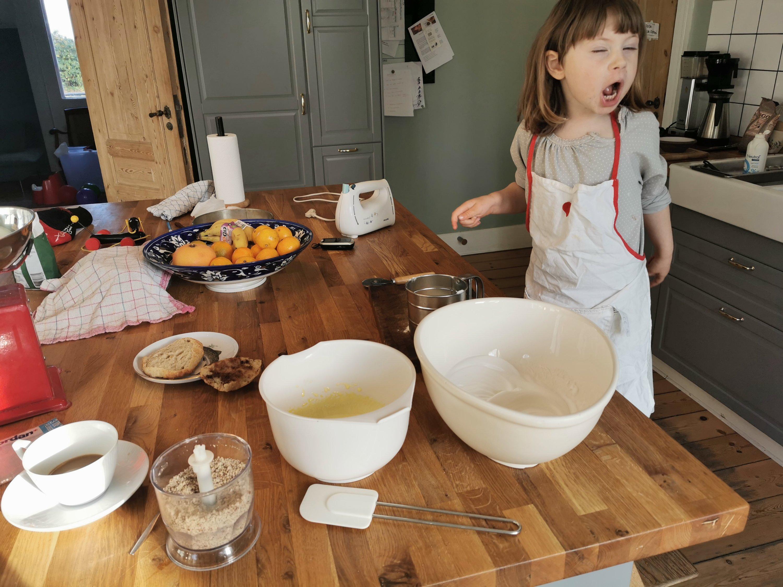 bage med børn