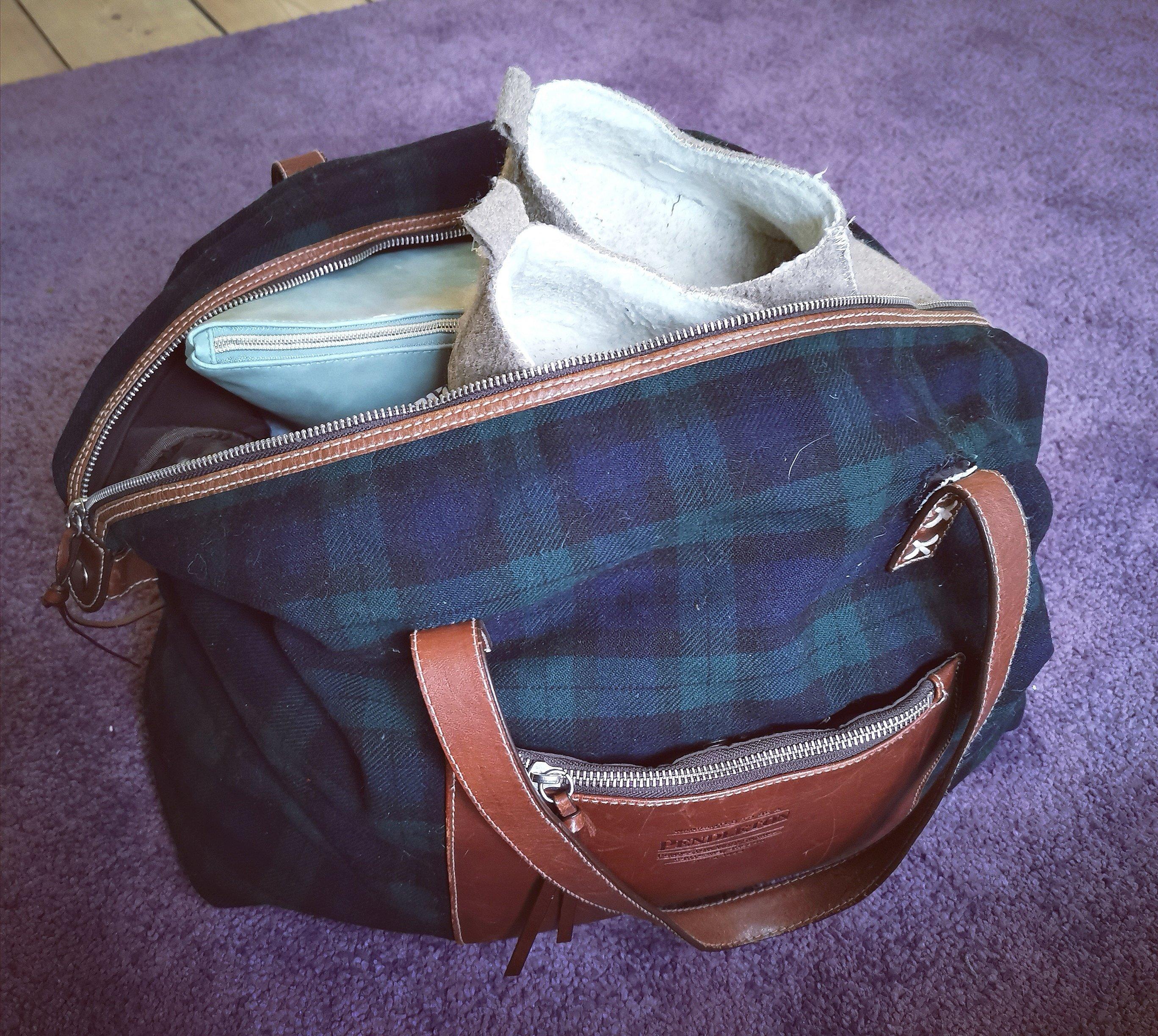 fødetaske pakket og klar
